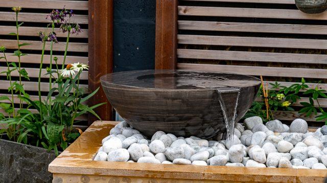Copper Boule 75cm Pebble Pool Water Sculpture Kit