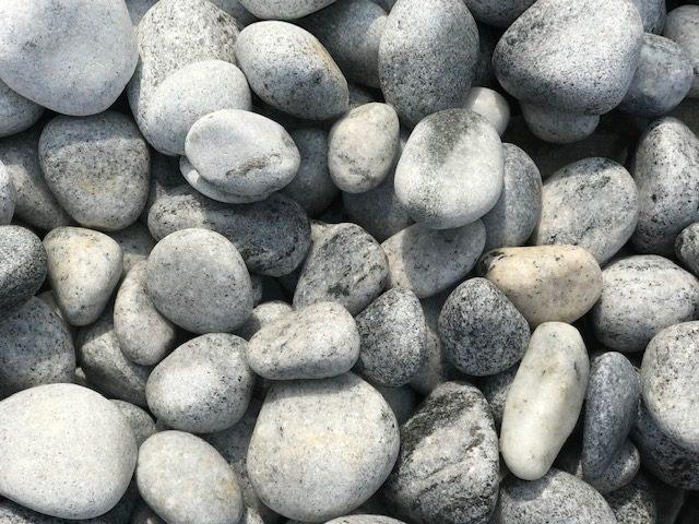 Buy Foras Grey Granite Decorative Pebbles - 10kg Bags