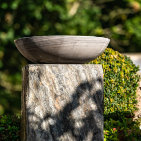 Set of Two Surmi Rectangle Natural Slate External Planters / Plinths