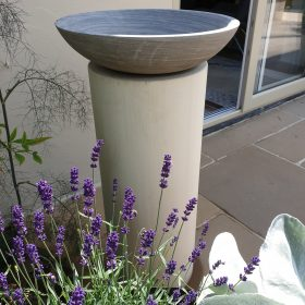 Horton Shark Birdbath on Mint Sandstone Plinth