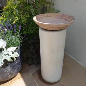 Horton Rainbow Birdbath on Mint Sandstone Plinth