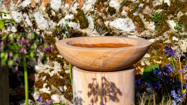 Flight Bowl - Rainbow Sandstone Birdbath - Bowl Only