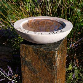 "Philosophy Acorn Rainbow Sandstone Birdbath – Bowl Only ""Dawn Til Dusk"""