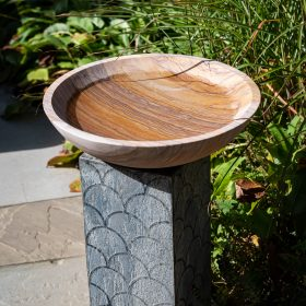Memorial Pewter Birdbath with Rainbow Bowl