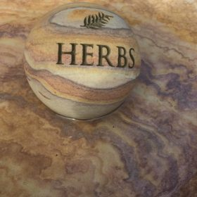 "Philosophy Engraved Sphere ""Herbs"""