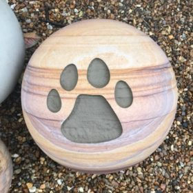 "Philosophy Engraved 20cm Sphere ""Paw Print"""