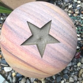 "Philosophy Engraved 20cm Sphere ""Star"""